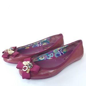 COACH POPPY 'Caper' Embellished Ballet Flats-7.5B